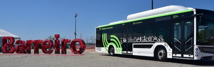 Primeiro autocarro dos TCB movido a gás natural